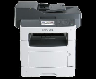 Lexmark Multifunction Mono Laser MX517de (p/ c/ s/ f, A4, 42 ppm, 512 Mb, 2trays 250+100, USB/ GigEth,  Duplex, ADF 50, Cartridge 3000 pages in box, 1+3y warr. )