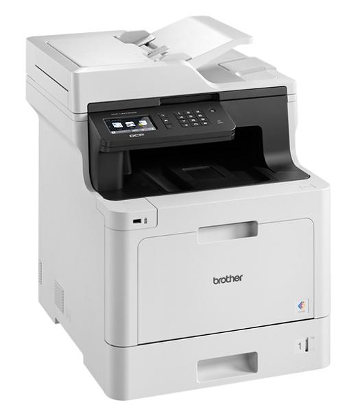 МФУ Brother DCP-L8410CDW (P/ C/ S/ , цветной лазерный, A4, 31стр/ мин, 512Мб, Duplex, ADF50, GigaLAN, WiFi, USB (старт.тонери 3000/ 1800стр)