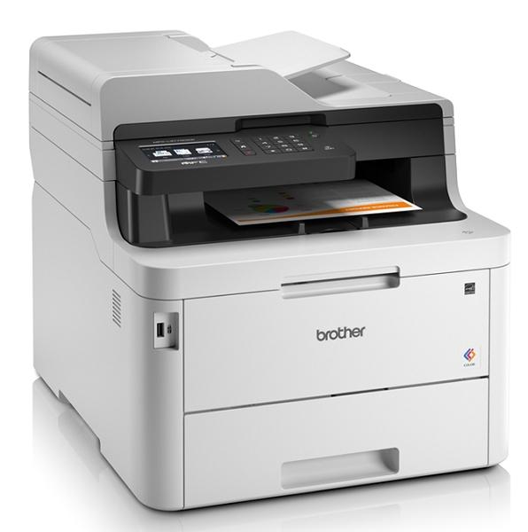 МФУ Brother MFC-L3770CDW, цв.светодиодный, A4, 24стр/ мин, 512Мб, факс, дуплекс, DADF50, LAN, WiFi, NFC (старт.картриджи на 1000стр)