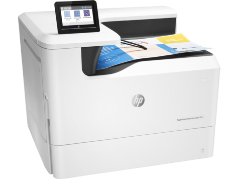 HP PageWide Enterprise Color 765dn (A3, 1200dpi, 55(up to 75)ppm, Duplex, 1, 5 Gb, 2trays 100+550, USB/ GigEth/ 2 host USB, 1y war, cartridges Black 10000 & CMY 8000 pages in box)