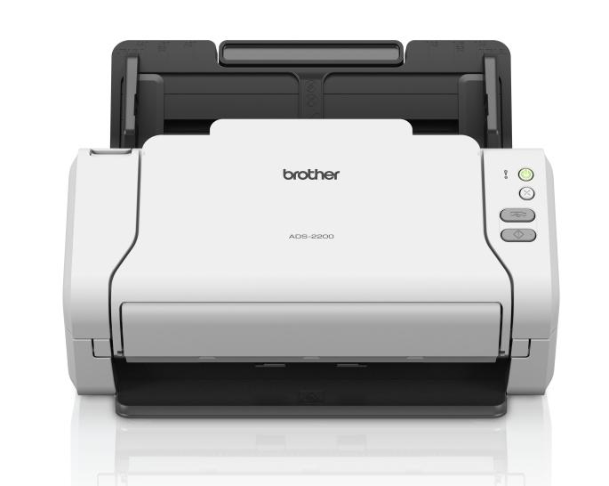 Документ-сканер Brother ADS-2200, A4, 35 стр/ мин, 256Мб, цветной, дуплекс, DADF50, USB, Presto!® BizCard OCR