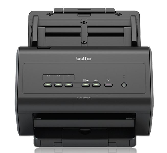 Документ-сканер Brother ADS-2400N, A4, 30 стр/ мин, 256Мб, цветной, дуплекс, DADF50, GigaLAN, USB, FineReader Sprint
