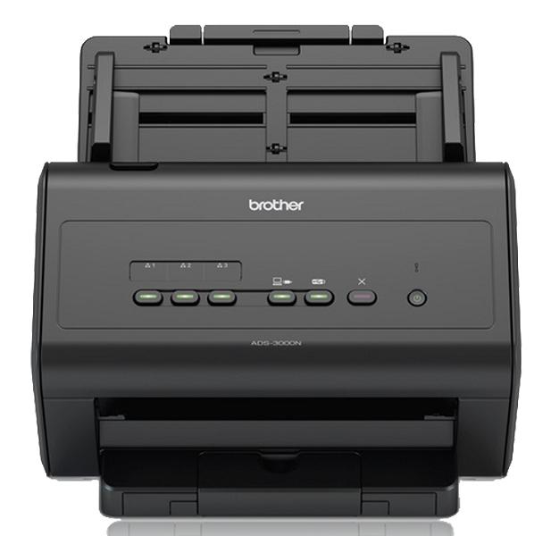 Документ-сканер Brother ADS-3000N, A4, 50 стр/ мин, 256Мб, цветной, дуплекс, DADF50, GigaLAN, USB3.0, FineReader Professional
