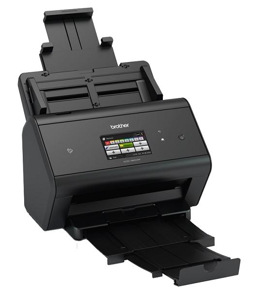 Документ-сканер Brother ADS-3600W, A4, 50 стр/ мин, 512Мб, цветной, дуплекс, DADF50, сенсорный экран, WiFi, USB3.0, NFC, FineReader