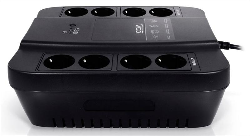 Powercom Back-UPS SPIDER, OffLine, 850VA/ 510W, Tower, Schuko