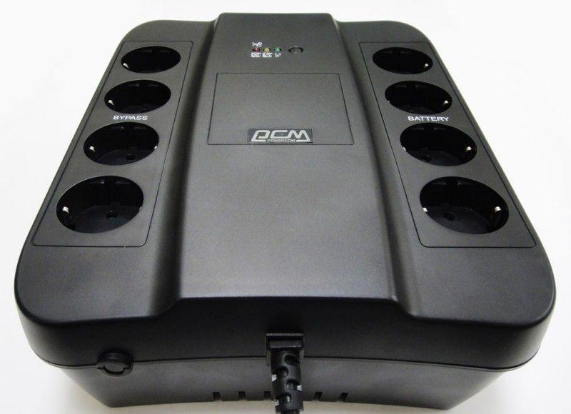 Powercom Back-UPS SPIDER, Line-Interactive, 850VA/ 510W, Tower, Schuko, USB