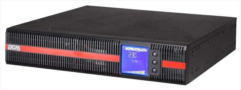 Powercom MACAN, On-Line, 2000VA/ 2000W, Rack/ Tower, IEC, LCD, Serial+USB, SmartSlot, подкл. доп. батарей