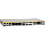 Allied Telesis 48 Port Fast Ethernet WebSmart Switch with 4 uplink ports (2 x 10/ 100/ 1000T and 2 x SFP-10/ 100/ 1000T Combo ports) <img style='position: relative;' src='/image/only_to_order_edit.gif' alt='На заказ' title='На заказ' />