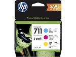 Cartridge HP 711, набор струйных картриджей DesignJet, 3*29 мл для DJ T120/ T520 (CZ130A+CZ131A+CZ132A), голубой/ пурпурный/ желтый