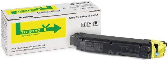 Тонер картридж Kyocera TK-5140Y для ECOSYS P6130cdn/ M6x30cdn (5000 стр)