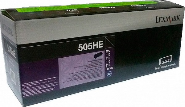 Lexmark Lexmark 505HE High Yield Toner Cartridge 5, 000 pages MS310 / MS410 / MS510 / MS610 <img style='position: relative;' src='/image/only_to_order_edit.gif' alt='На заказ' title='На заказ' />