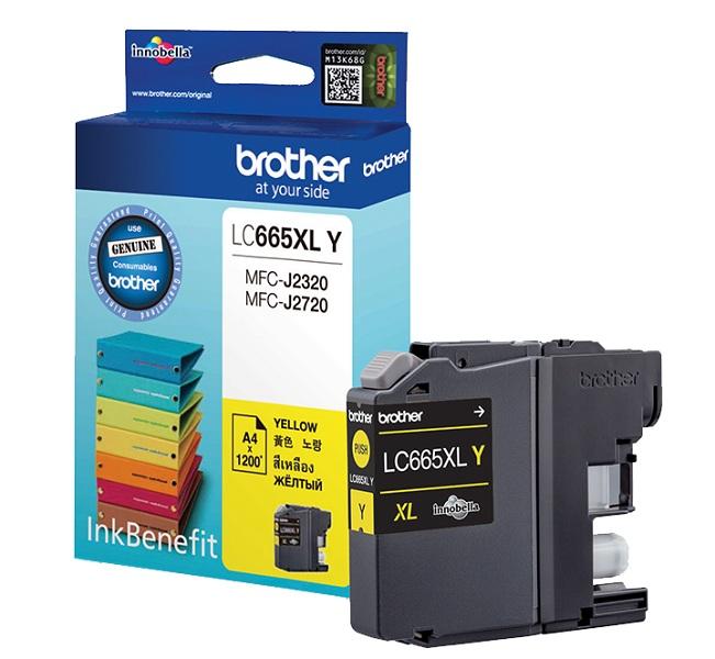 Тонер струйный Brother LC665XLC желтый (1200стр.) для Brother MFC-J2320/ J2720
