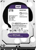 Western Digital HDD SATA-III 2000Gb Purple WD20PURZ, IntelliPower, 64MB buffer (DV&NVR)