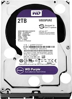 Western Digital HDD SATA-III 2000Gb Purple WD20PURZ