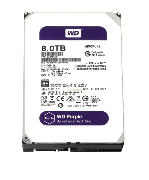 Western Digital HDD SATA-III 8000Gb Purple WD81PURZ, IntelliPower, 256MB buffer (DV&NVR) <img style='position: relative;' src='/image/only_to_order_edit.gif' alt='На заказ' title='На заказ' />