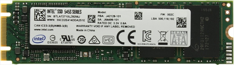 Intel SSD 545s Series M.2 80mm, 128Gb, R550/ W440 Mb/ s, IOPS 70K/ 80K, MTBF 1, 6M (Retail) <img style='position: relative;' src='/image/only_to_order_edit.gif' alt='На заказ' title='На заказ' />