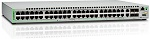 Allied Telesis Gigabit Ethernet Managed switch with 48 10/ 100/ 1000T ports, 2 SFP/ Copper combo ports, 2 SFP/ SFP+ uplink slots, single fixed AC power supply