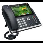 YEALINK SIP-T48S, цветной сенсорный экран, 16 аккаунтов, BLF,  PoE, GigE, без БП YEALSIP-T48S