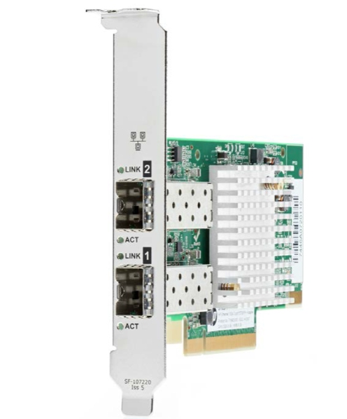 HPE Ethernet Adapter, 562SFP+, 2x10Gb, PCIe(3.0), Intel, for Gen9/ Gen10 servers