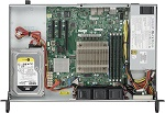 Supermicro SuperServer 1U 5019S-L no CPU(1) E3-1200v5/ 6thGenCorei3/ no memory(4)/ on board RAID 0/ 1/ 5/ 10/ no FixedHDD(1)LFF/ 2xGE/ 1xAOCPCIEx8/ 1noRx200W