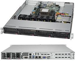 Supermicro SuperServer 1U 5019P-WT noCPU(1)Scalable/ TDP 70-205W/ no DIMM(6)/ SATARAID HDD(4)LFF/ 2x10GbE/ 2xFH, 1xLP, M2/ 1x600W