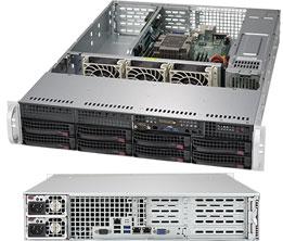 Supermicro SuperServer 2U 5029P-WTR noCPU(1)Scalable/ TDP 70-205W/ no DIMM(6)/ SATARAID HDD(8)LFF/ 2x10GbE/ 4xFH, 1xLP, M2/ 2x500W