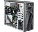 Supermicro SuperWorkstation Mid-Tower 5039A-iL CPU(1) E3-1200v5/ noHS/ no memory(4)/ on board RAID 0/ 1/ 5/ 10/ internalHDD(4)LFF/ 2xGE/ 6xFH/ 1x500W Gold/ no Backplane