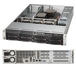 Supermicro SuperServer 2U 6028R-WTRT no CPU(2) E5-2600v3/ v4 no memory(16)/ on board C612 RAID 0/ 1/ 5/ 10/ no HDD(8)LFF/ 2x10GE/ 4xFH, 2xLP/ 2x740W Platinum/ Backplane 8xSATA/ SAS