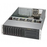 Supermicro SuperServer 3U 6038R-TXR no CPU(2) E5-2600v3/ v4 no memory(16)/ on board C612 RAID 0/ 1/ 5/ 10/ no HDD(8)LFF/ 2xGE/ 2x980W/ Backplane 8xSATA3