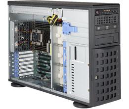 Supermicro SuperServer 4U 7049P-TR noCPU(2)Scalable/ TDP 70-205W/ no DIMM(16)/ SATARAID HDD(8)LFF/ 2xGbE/ 6xFH, M2/ 2x1280W