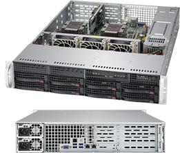 Supermicro SuperServer 2U 6029P-WTR noCPU(2)Scalable/ TDP 70-205W/ no DIMM(12)/ SATARAID HDD(8)LFF/ 2xGbE/ 4xFH, 2xLP, M2/ 2x1000W