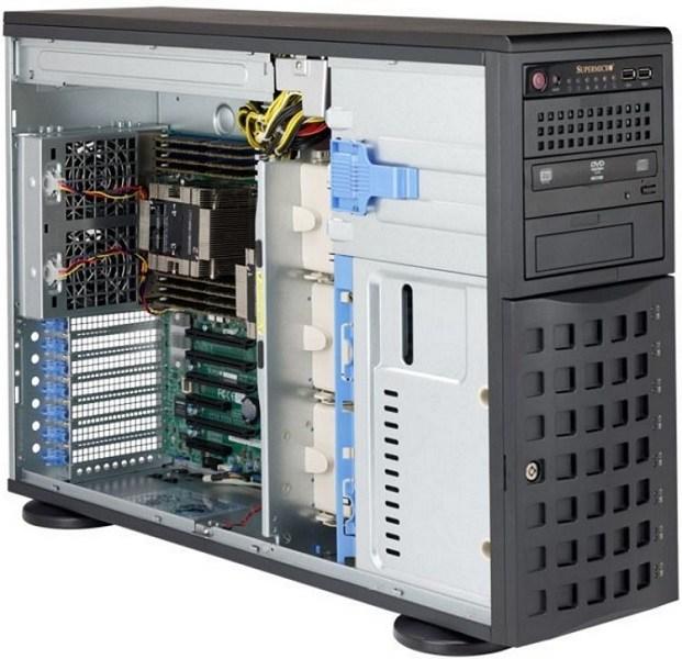 Supermicro SuperServer 4U 7049P-TRT noCPU(2)Scalable/ TDP 70-205W/ no DIMM(16)/ SATARAID HDD(8)LFF/ 2x10GbE/ 6xFH, M2/ 2x1280W