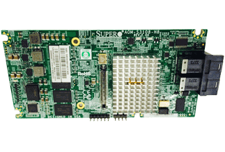 Supermicro AOM-S3108M-H8 Add-on Module (8-port, SAS 12Gb/ s, RAID 0, 1, 5, 6, 10, 50, 60, 2Gb onboard cache)