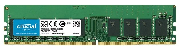 Crucial by Micron DDR4  16GB (PC4-21300) 2666MHz ECC,  DR x8 (Retail) <img style='position: relative;' src='/image/only_to_order_edit.gif' alt='На заказ' title='На заказ' />