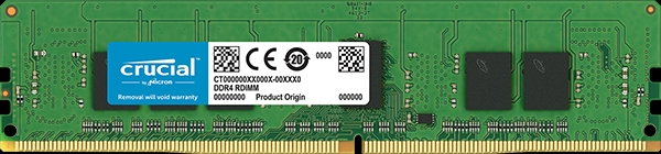Crucial by Micron DDR4  4GB (PC4-21300) 2666MHz ECC Registered SR x8, 1.2V CL19 (Retail) <img style='position: relative;' src='/image/only_to_order_edit.gif' alt='На заказ' title='На заказ' />